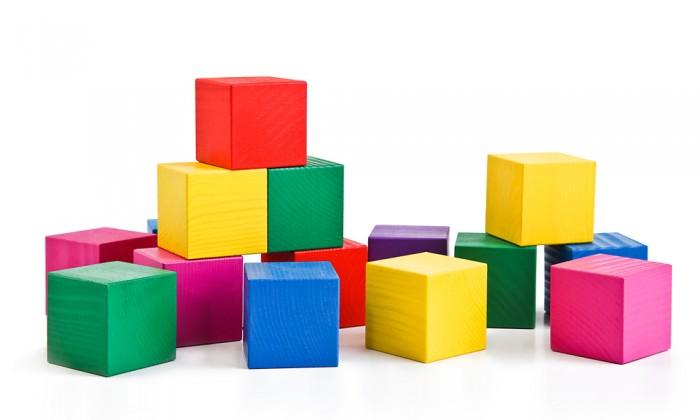 Деревянные игрушки Томик Кубики цветные 20 шт кубики мди