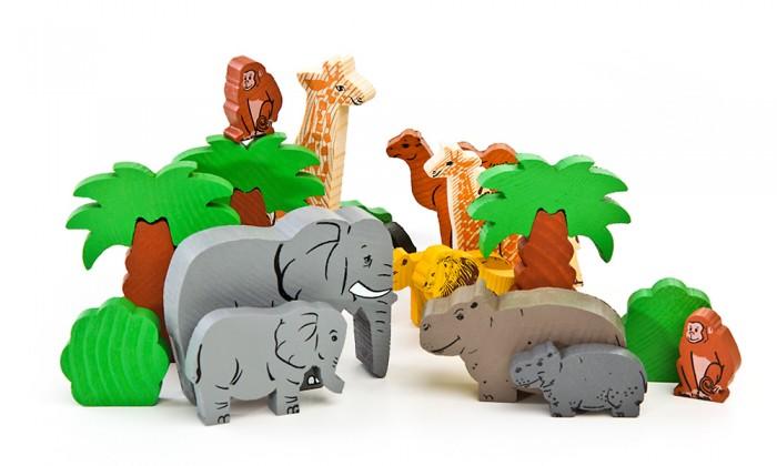 Деревянная игрушка Томик Конструктор Африка 40 деталей