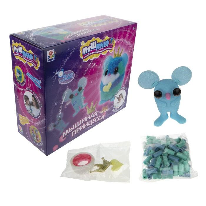 1 Toy Пуш-Плюш Набор для творчества Мышиная принцесса