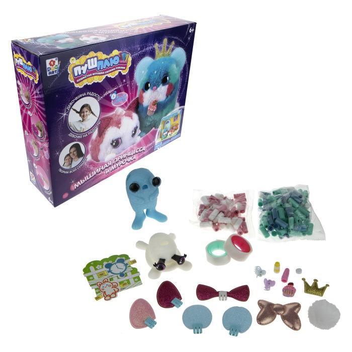 1 Toy Пуш-Плюш Набор для творчества Мышиная принцесса и Мурочка