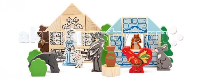 Деревянная игрушка Томик Конструктор Сказки Лесные сказки 35 деталей