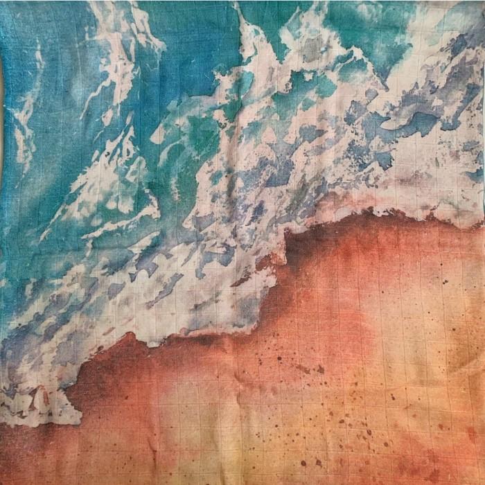 Пеленка MamSis Море и песок 120х120 см