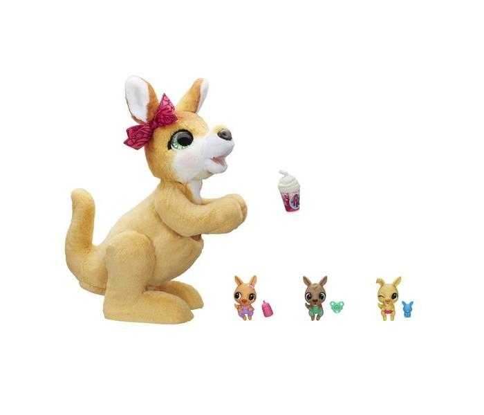 Картинка для Интерактивные игрушки FurReal Friends Набор игровой Кенгуру Джози и ее малыши