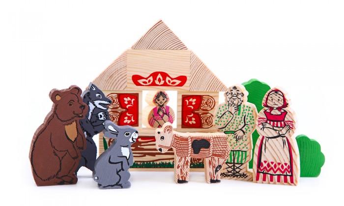 Деревянные игрушки Томик Конструктор Сказки Смоляной бычок 17 деталей