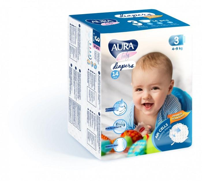 Подгузники Aura Baby M (4-9 кг) 14 шт.
