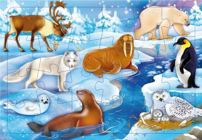 Картинка для Пазлы Геодом Пазл листовой на подложке В снегах (24 детали)
