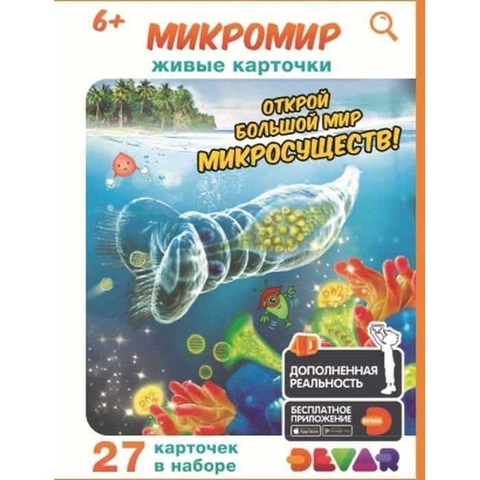 Фото - Обучающие книги Devar Kids Живые карточки 4D: Микромир обучающие книги devar kids 4d книга знакомство с животными