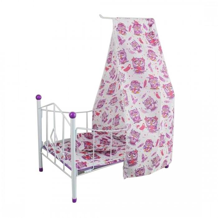 Кроватка для куклы Наша Игрушка с балдахином Совушка