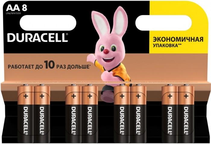 Duracell Батарейка алкалиновая Basic AA (LR06) 8 шт.
