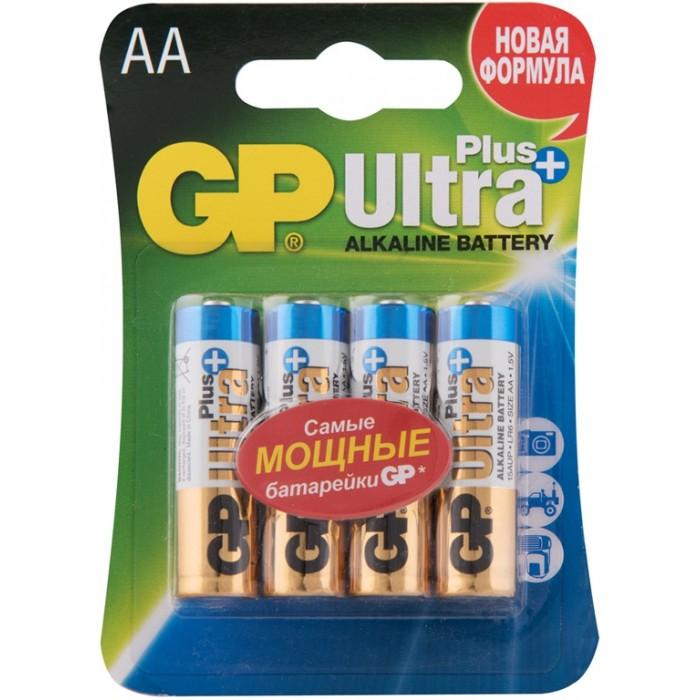 Батарейки, удлинители и переходники GP Батарейка алкалиновая Ultra Plus AA (LR06) 4 шт. батарейка алкалиновая gp batteries тип 910а lr01 2 шт