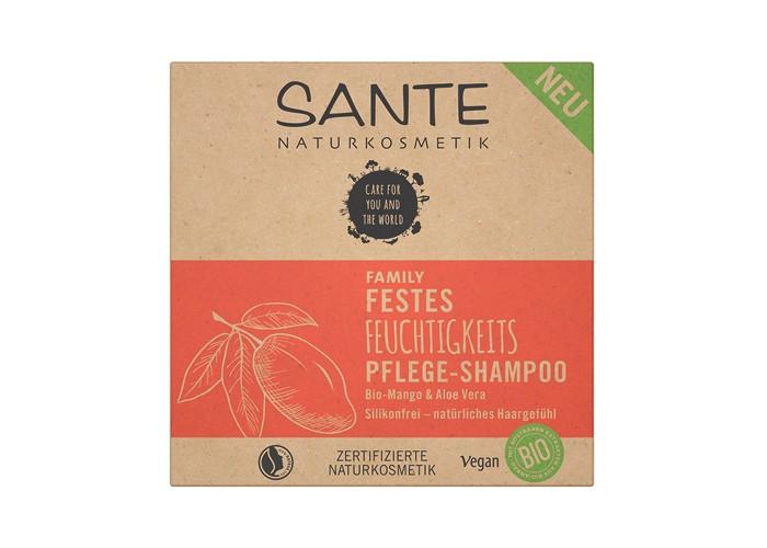 Sante Увлажняющий и питательный твердый шампунь с био-манго и алое