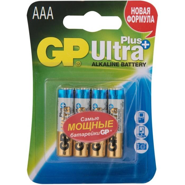 Батарейки, удлинители и переходники GP Батарейка алкалиновая Ultra Plus AAA (LR03) 4 шт. батарейка алкалиновая gp batteries тип 910а lr01 2 шт
