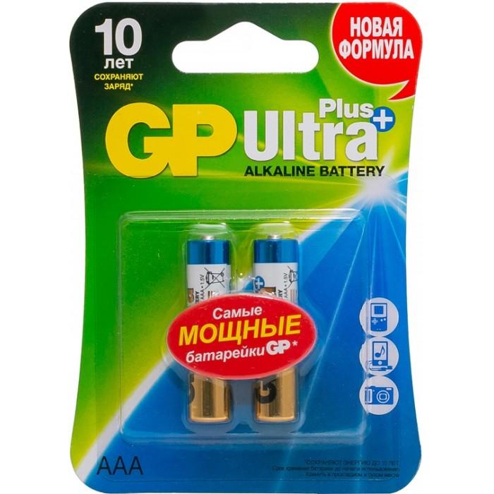 Батарейки, удлинители и переходники GP Батарейка алкалиновая Ultra Plus AAA (LR03) 2 шт. батарейка алкалиновая gp batteries тип 910а lr01 2 шт