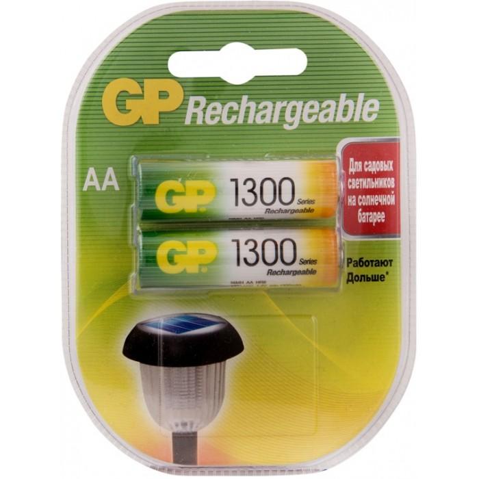 Батарейки, удлинители и переходники GP Аккумулятор AA (HR06) 1300mAh 2 шт.