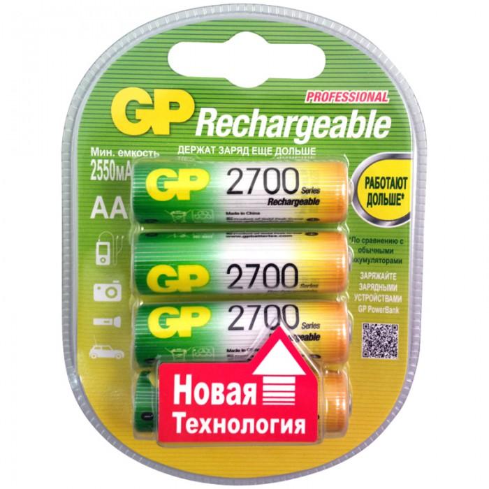 Картинка для GP Аккумулятор AA (HR06) 2700mAh 4 шт.