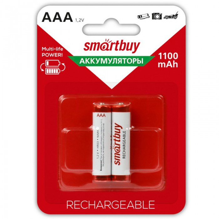 Smart Buy Аккумулятор AAА (HR06) 1100mAh Rechargeable 2 шт.