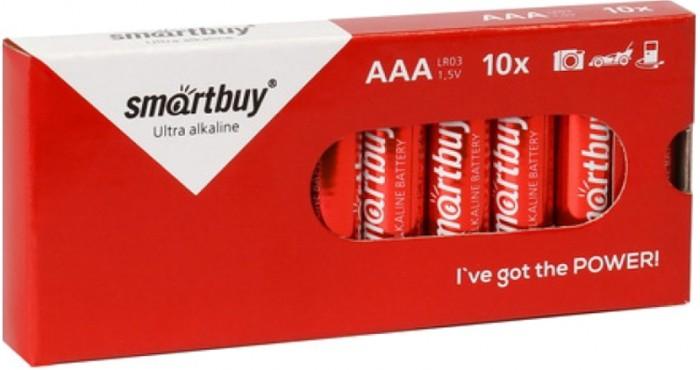 Батарейки, удлинители и переходники Smart Buy Батарейка алкалиновая AAA (LR03) 10 шт.