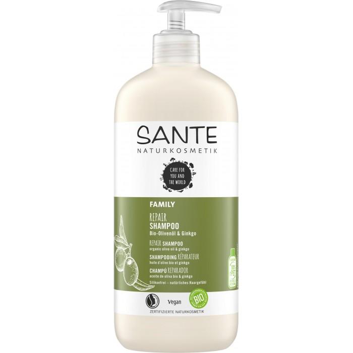 Sante Family Восстанавливающий шампунь с био-гинкго и оливой 500 мл