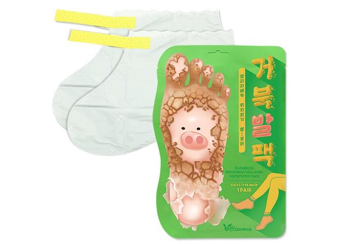 Косметика для мамы Elizavecca Piggy Hell-Pore Turtles Отшелушивающая маска-носочки для ног 2х20 г недорого