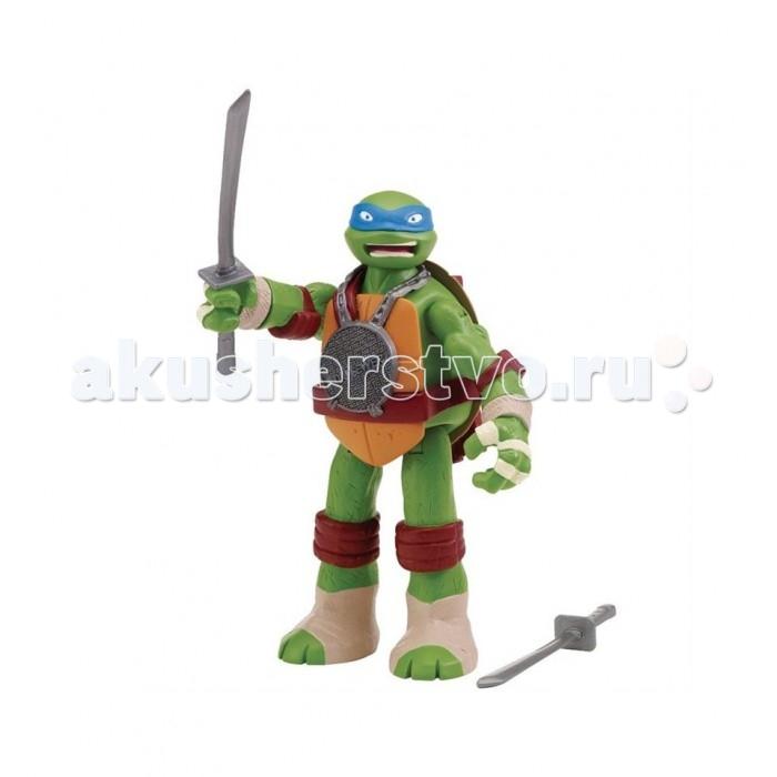Игровые фигурки Turtles Фигурка Черепашки Ниндзя Леонардо со звуком 15 см игровые фигурки turtles говорящая фигурка черепашки ниндзя леонардо half shell hero 15 см