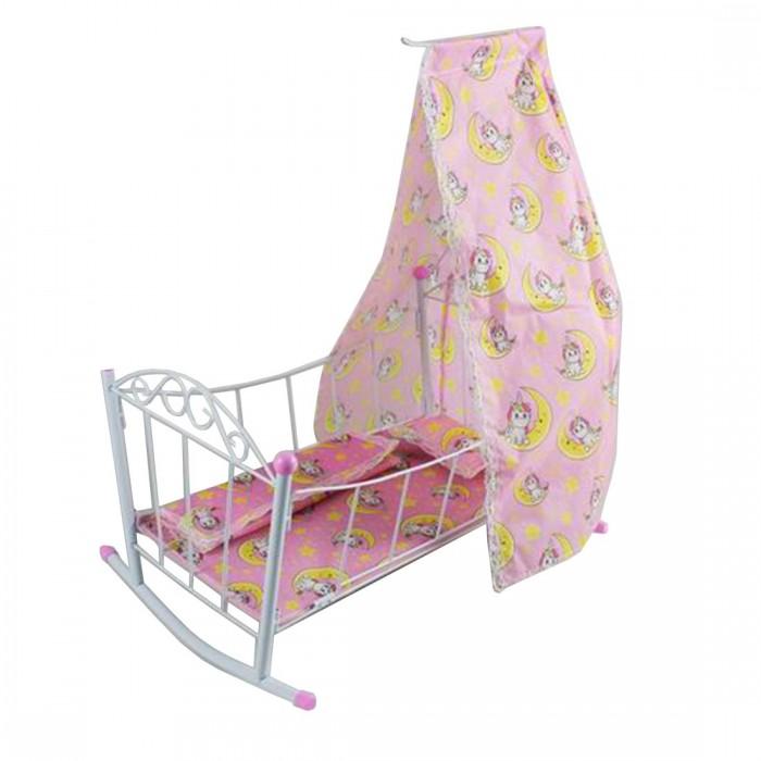Картинка для Кроватки для кукол Наша Игрушка люлька с балдахином Единорог