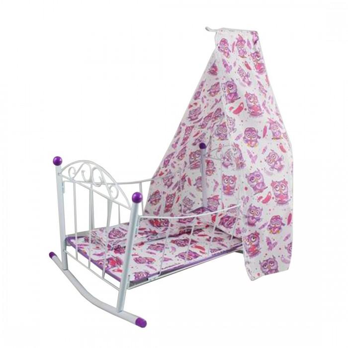 Картинка для Кроватки для кукол Наша Игрушка люлька с балдахином Совушка