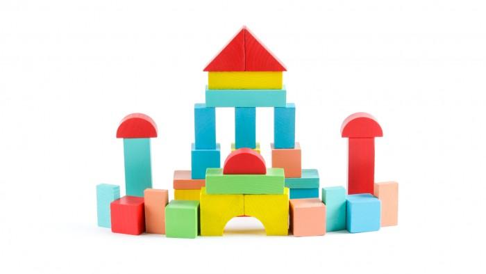 Картинка для Деревянные игрушки Томик Конструктор Краски дня Утро 30 деталей