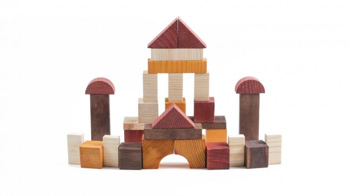 Деревянная игрушка Томик Конструктор Краски дня День 105 деталей