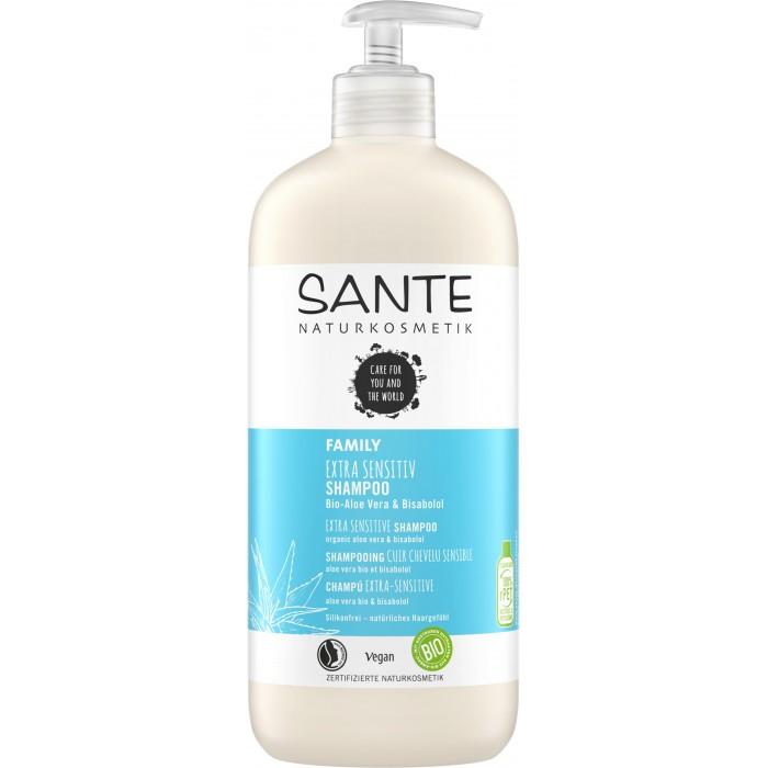 Sante Family Шампунь для чувствительной кожи с био-алоэ и бисабололом 500 мл