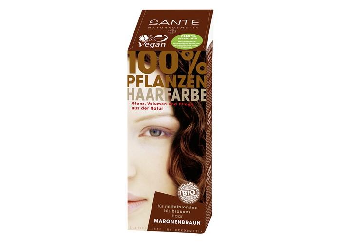 Sante Растительная краска для волос Коричневый каштановый 100 г