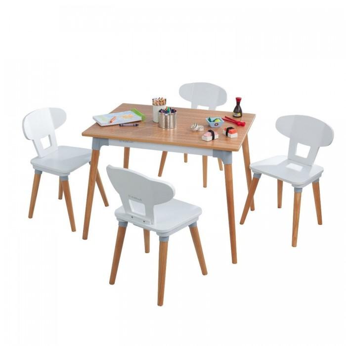 KidKraft Набор детской мебели Mid Century стол 4 стула