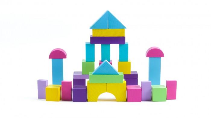 Деревянная игрушка Томик Конструктор Краски дня Вечер 105 деталей