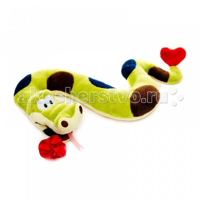 Мягкие игрушки Maxitoys Змей Вася с цветком 22 см мягкие игрушки maxitoys котенок лапушка бежевый озвученный 22 см mp hh r8997e