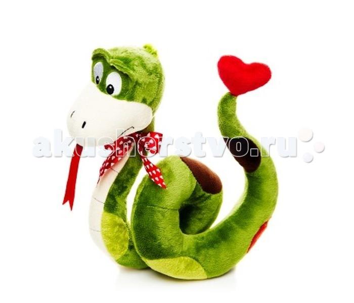 Мягкие игрушки Maxitoys Змей Джекки с сердечком 24 см набор для выращивания eco малыш с сердечком 1128553