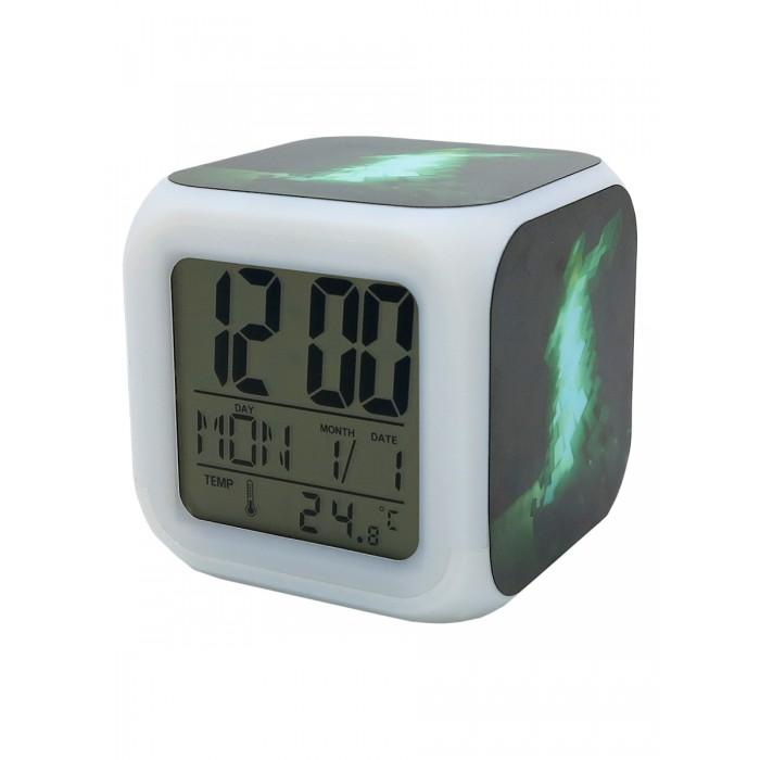 Картинка для Часы Pixel Crew будильник Изумрудный меч с подсветкой