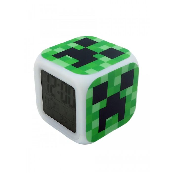 Картинка для Часы Pixel Crew будильник Крипер пиксельные с подсветкой