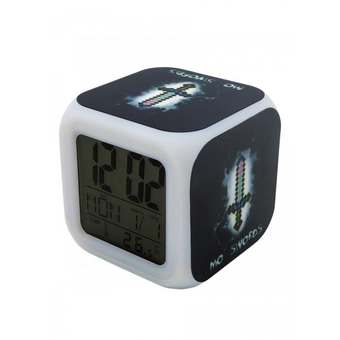 Картинка для Часы Pixel Crew будильник Пиксельный меч с подсветкой