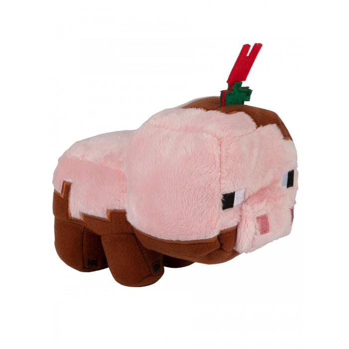 Картинка для Мягкие игрушки Minecraft Earth Happy Explorer Muddy Pig Свинья 12 см