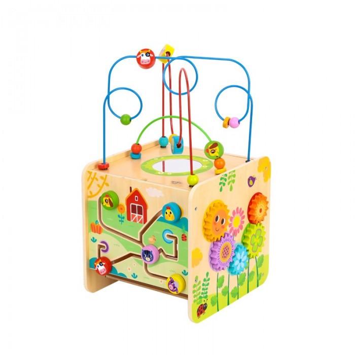 Деревянная игрушка Tooky Toy Игровой куб Ферма