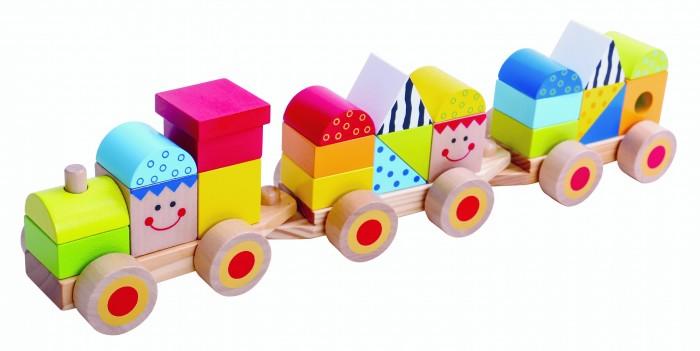 Деревянная игрушка Tooky Toy Развивающий набор Поезд