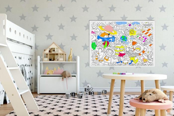 Картинка для Раскраски VoiceBook гигантская напольная Зима А1 в коробке