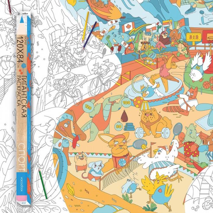 Картинка для Раскраски VoiceBook гигантская Удивительная Россия Спорт А0