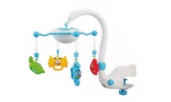 Мобиль Baby Mix Подводный мир с ночникомПодводный мир с ночникомМобиль Подводный мир с ночником - это яркая музыкальная каруселька на кроватку, с которой малыш никогда не будет скучать. Симпатичные игрушки, медленное вращение игрушек, приятная музыка, возможность подсветки - вот отличительные черты этой игрушки.  Особенности: музыкальное сопровождение карусельки ребенок учится следить за подвесными игрушками у малыша активно и в максимально естественной форме развивается зрение кроха получает представление о пространственном положении предметов музыкальное сопровождение развивает слух ребенка разно-фактурные элементы помогут развить мелкую моторику и сенсорику<br>