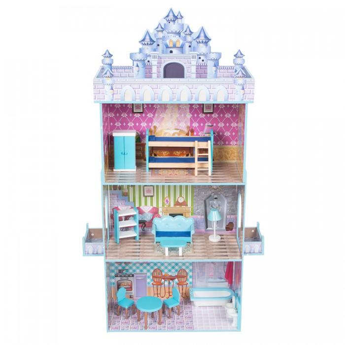 Картинка для Кукольные домики и мебель Игруша Дом кукольный сборный с комплектом мебели
