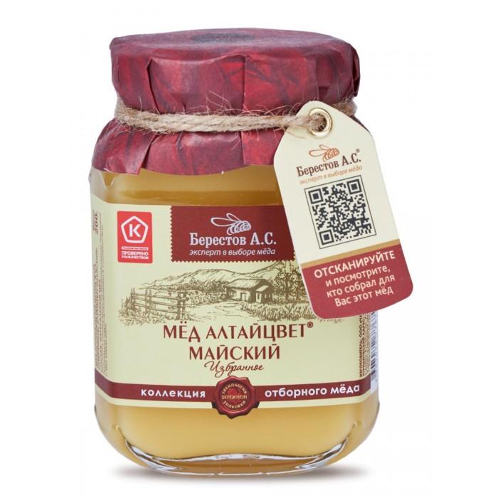 Мед, варенье, сиропы Берестов А.С. Мёд натуральный полифлорный Алтайцвет Майский 200 г недорого
