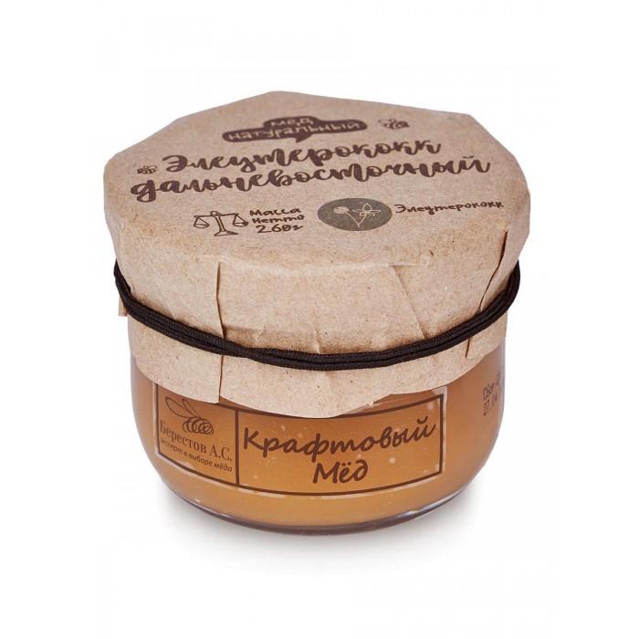 Мед, варенье, сиропы Берестов А.С. Мёд натуральный Крафтовый Элеутерококк дальневосточный 260 г