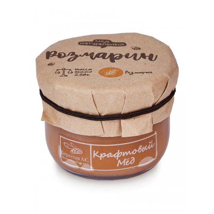 Мед, варенье, сиропы Берестов А.С. Мёд натуральный Крафтовый Розмарин 260 г