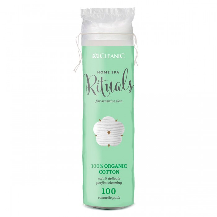 Гигиена для мамы Cleanic Home Spa Rituals Ватные диски Organic 100 шт.