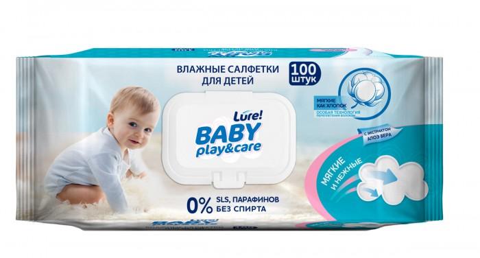 Салфетки Lure Влажные салфетки детские big-pack 0+ 100 шт.