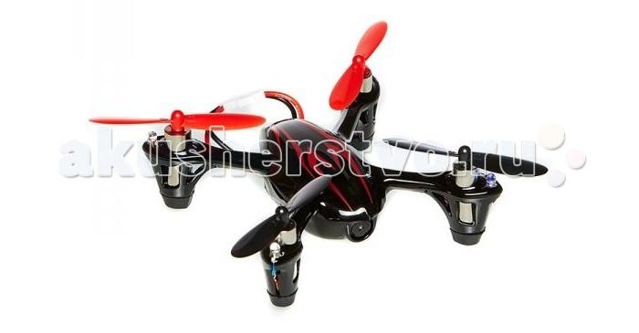 Hubsan Квадрокоптер HBS-H107C с камеройКвадрокоптер HBS-H107C с камеройHubsan Квадрокоптер HBS-H107C с камерой - удивительно маленький квадрокоптер для развлечений и ощущений себя пилотом. Кроме качественного управляемого полета устройство оснащено рядом функций: записью при помощи встроенной камеры на флеш-карту, 6-ти ступенчатым контроллером полета, у которого 4-канала управления.  Особенности: Пульт ДУ похож на джойстик, удобен, помогает осуществлять виртуозные маневры в небе. Он эргономичен, удобен, помогает сбалансировать мультикоптер.  Запись видео производиться на MicroSD карту, размещенную в задней части H107C. Запись стартует после нажатия кнопки, которая с синего индикатора переключается на классический красный. Отснятое видео можно просматривать на ПК или другом устройстве, имеющем соответствующий слот. Разрешение видео: 720x480, 25 кадров в секунду - приличное качество при пилотировании на улице в условиях дневного света. Чувствительный регулируемый гироскоп 4 направления движения: вправо, влево, вперед и назад Мощные двигатели для осуществления вертикальный взлетов Дополнительный набор винтов Кабель для зарядки через USB порт Полет в помещении и на открытом воздухе  Комплектация: Аккумулятор Инструкция USB-кабель Комплект запасных частей 4 пропеллера Контроллер Квадрокоптер  Дополнительная информация: Схема: соосная Материал корпуса и лопастей: прочный пластик Функции: гироскоп Оснащен видеокамерой 0,3 Mp с разрешением 720*480 Двигатель: Coreless Motor Аккумулятор: 3.7V 380mAh Полет: 7-8 мин Время зарядки: 40 мин Радиус действия: 100 м Количество каналов управления: 4  Размеры: 355х180х90 мм<br>